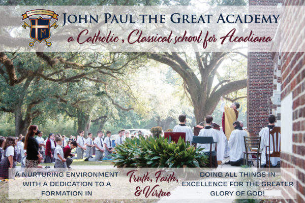 John Paul the Great Academy in Lafayette Louisiana