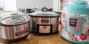 Zojirushi rice cooker, Crockpot slow cooker, Instant pot
