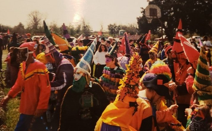 Old time Mardi Gras costumes