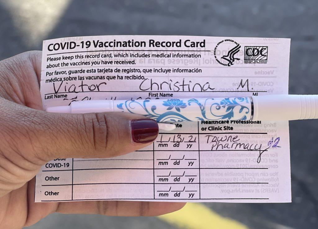 COVID 19 Vaccination Record Card
