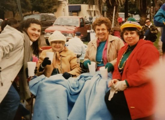 family at Mardi Gras