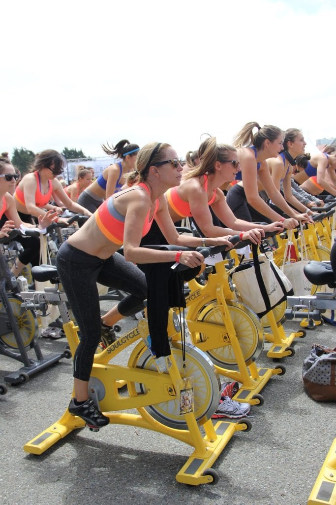 spin class for moms