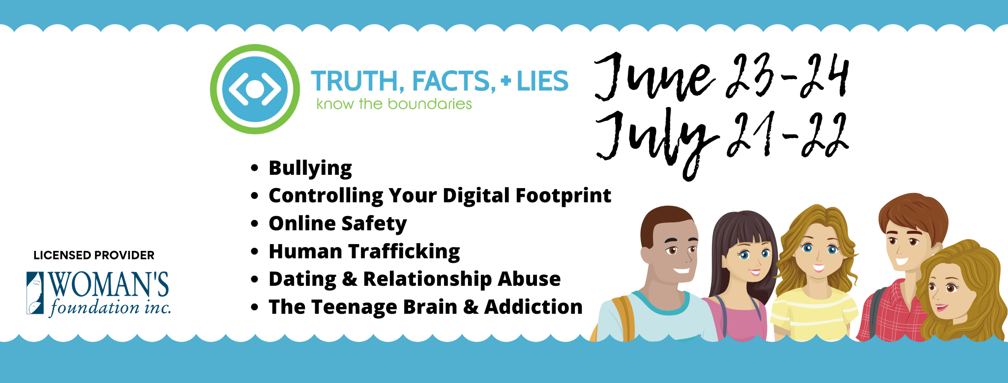 Truth, Facts + Lies Program - Teaching Teens to Know Their Boundaries On and Off the Screen