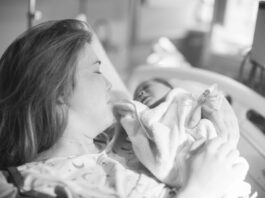 New Mom with Baby in Hospital